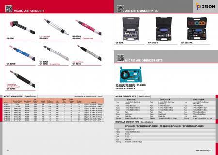 Мікроповітряна шліфувальна машина, набори шліфувальних машинок, набори мікроповітряних подрібнювачів