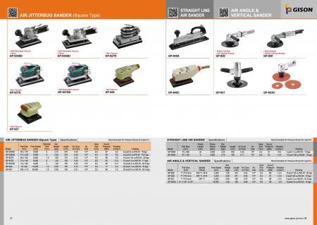 Air Jitterbug Sander, Straight Line Air Sander, Air Angle Vertical Sander