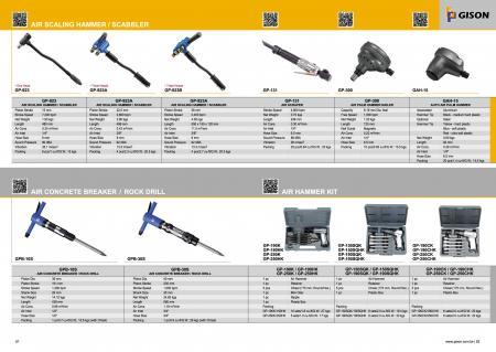 Martillo de aire, martillo rompedor de concreto, kit de martillo neumático