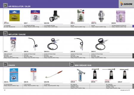 Regulator Udara, Kapal Tangki, Pengukur Inflator, Chuck, Mini Grease Gun