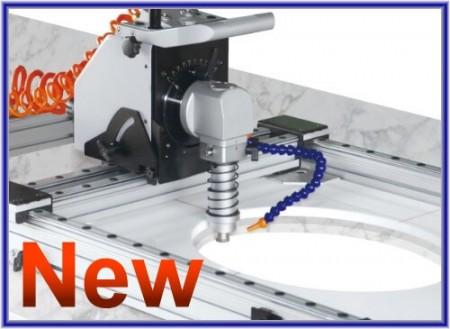 氣動石材開孔機/內孔切割機/成形機 - 氣動石材橢圓內孔切割成形機