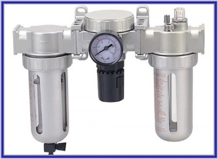 空気圧調整グループ/ 3点組み合わせ(オイル注入/水ろ過/圧力調整) - 3点組み合わせ(オイル注入/水ろ過/圧力調整)