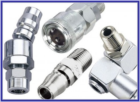 Luchtkoppeling (stekker, socket, joint) - Air Qucik Coupler (plug, socket, joint)