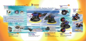 Паветраная выпадковая арбітальная шліфавальная машына (GPS-301, GPS-303)