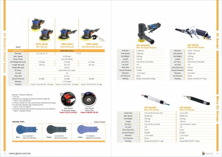 GISON Dry Air Levigatrice orbitale casuale, levigatrice GISON , Micro Air Grinder, Air Blow Gun