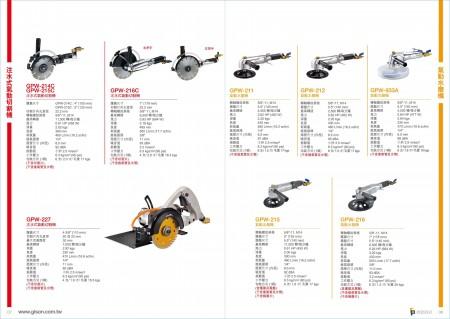 台湾吉生 注水式风动石材切割机, 风动水磨机