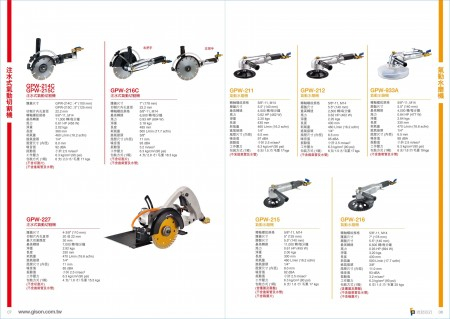 台湾吉生 水噴射空気圧石切断機、空気圧水車