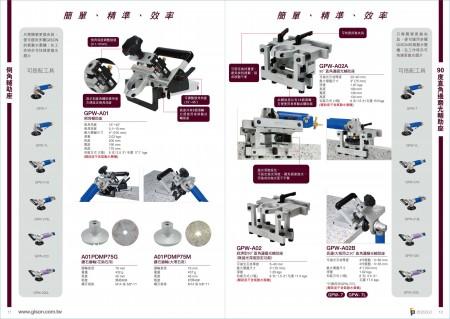 台湾吉生空気圧石面取り機、空気圧石90°直角エッジ研磨機