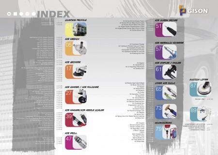 GISON Въздушни инструменти, индекс на пневматични инструменти