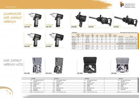 GISON Kits de clés à chocs pneumatiques composites