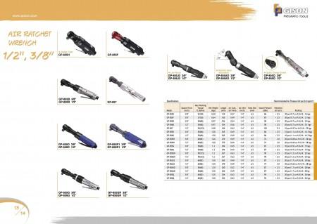 """GISON Κλειδί Air Ratchet 1/2 """", Air Ratchet Wrench 3/8"""""""