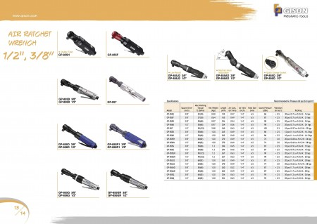 """GISON Air Ratchet Wrench 1/2"""", Air Ratchet Wrench 3/8"""""""