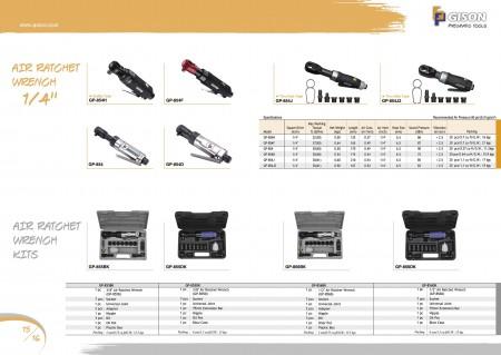 """GISON Clé à cliquet pneumatique 1/4"""", kits de clés à cliquet pneumatique"""
