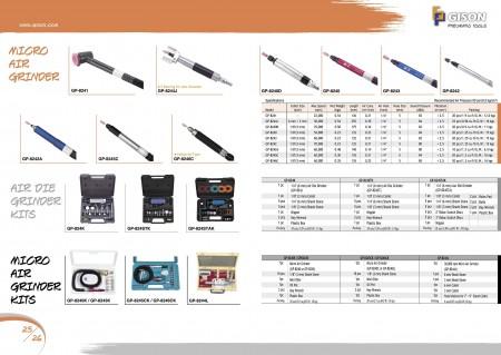 GISON Мікра -пнеўматычная шліфавальная машына, камплекты пнеўматычнай шліфавальнай машынкі, наборы мікра -паветранай шліфавальнай машыны