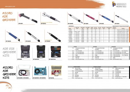 GISON Мікроповітряна шліфувальна машина, набори для шліфувальних машин, набори мікроповітряних шліфувальних машин