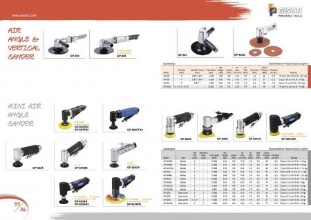 GISON Air Angle Sander, Air Vertical Sander, Mini Air Sander