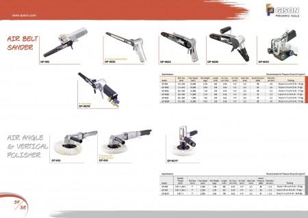 GISON Ponceuse à bande pneumatique, polisseuse d'angle pneumatique, polisseuse verticale pneumatique