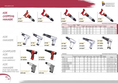 GISON Air ကို chip Hammer, Air ကို Hammer, Composite Air ကို Hammer