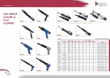 GISON Air Needle Scaler, Air Flux-Chipper
