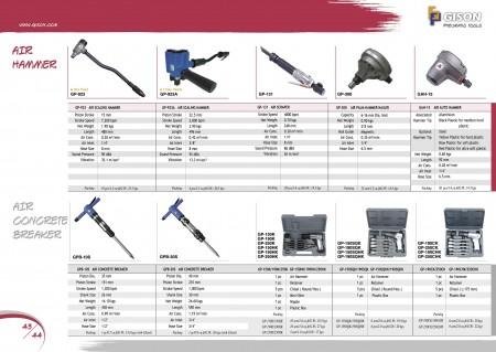 GISON Marteau détartreur pneumatique, Grattoir pneumatique, Cloueuse à marteau pneumatique, Marteau pneumatique automatique, Brise-béton pneumatique, Kits de marteau pneumatique
