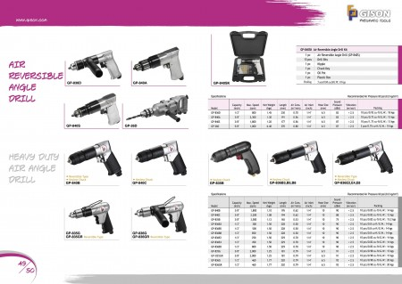 GISON Taladro neumático reversible, kits de taladro neumático, taladro de ángulo neumático para trabajo pesado
