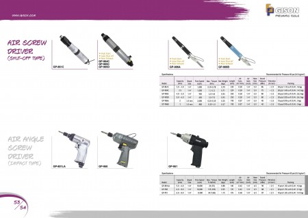 GISON Air ScrewDriver (tipo de cierre), Air Angle ScrewDriver (tipo de impacto)