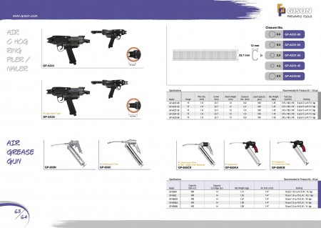 GISON Air C-Ring Tools, Air Grease Gun