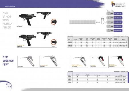 GISON Инструменти за въздушен пръстен, пистолет за въздушна смазка
