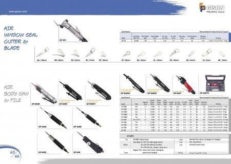 GISONエアウィンドウシールカッター、エアナイフ用ブレード、エアボディソー、エアファイル