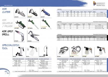 GISON Air Cutter, Air Secateur, Air Pruner, Air Spot Drill, Air Spot Sand Blaster, Air Dent Puller, Air Vacuum Bow Kits, Air Spume Cleaning Gun
