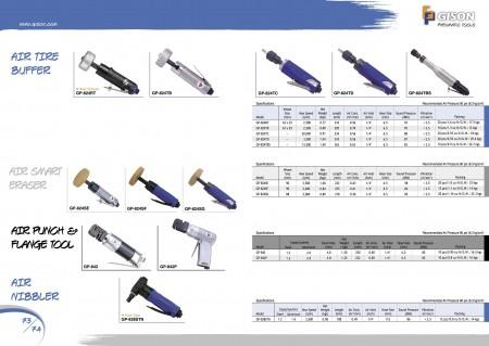 GISON Air Tyre Buffer, Air Smart Eraser, Air Punch Flange Tool, Air Nibbler