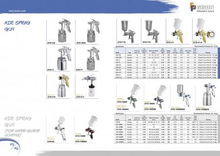GISON Pistolet de pulvérisation d'air, pistolet de pulvérisation d'air (pour revêtement à base d'eau)
