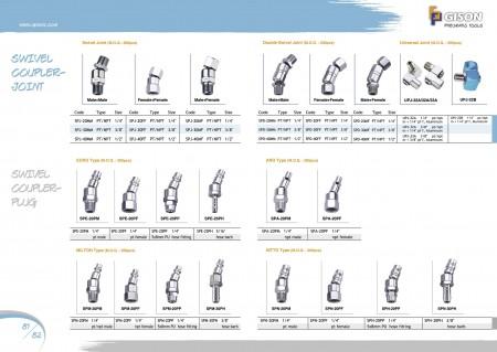 GISON Swivel Air Coupler-Joint, Swivel Air Coupler-Plug