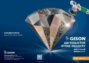 2013-2014 GISON Catálogo de ferramentas de ar úmido para pedra, mármore e granito - 2013-2014 GISON Ferramentas de ar úmido para pedra, mármore, granito