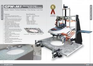 GISON Різак / маршрутизатор овальних отворів для мийки GPW-M1 для умивальника