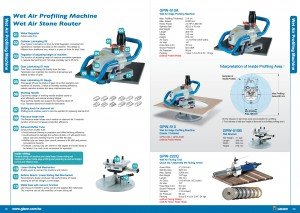 GISON Wet Air Stone Router, Alat Air Fluting basah