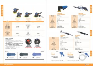 GISON Dry Air Random Orbital Sander, Air Sander, Micro Air Grinder, Air Blow Gun