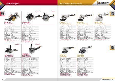 GISON Пила для різання вологого повітря, полімер для вологого повітря, шліфувальна машина, шліфувальна машина