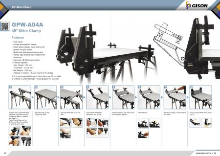 台湾吉生 GPW-A04A 45度斜边黏合辅助夹具