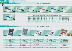 21 22 Набори пневматичних шліфувальних машинок для мікроповільників