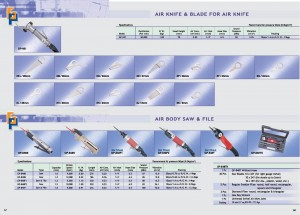 57 58 Lima de sierra neumática Air Knife