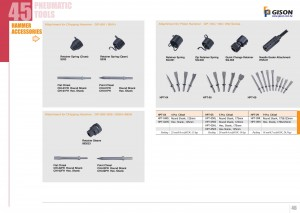 p45 46 Accessoires pour marteau pneumatique