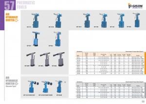 p57 58 Riveteuse hydraulique pneumatique