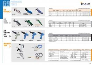 p69 70 Повітряно -різальний інструмент з пневматичними склепувальними гайками