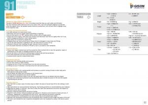 p91 92 Tableau de conversion des consignes de sécurité