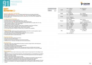 p91 92 Πίνακας μετατροπής οδηγιών ασφαλείας