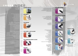 GISON Pneumatické nástroje Index pneumatických nástrojů