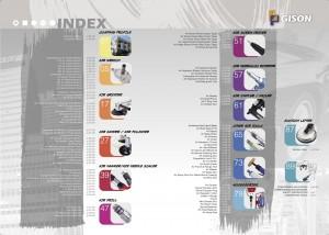 GISONエアツール空気圧ツールインデックス
