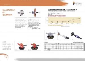 p17 18 Smerigliatrice dritta verticale pneumatica