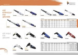 p23 24 Smerigliatrice pneumatica con estensione pneumatica Smerigliatrice pneumatica angolare